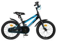 """Велосипед 16"""" Graffiti Deft, цвет чёрный/голубой 5267469"""