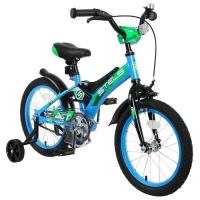 """Велосипед 16"""" Stels Jet, Z010, цвет голубой/зеленый 5153755"""