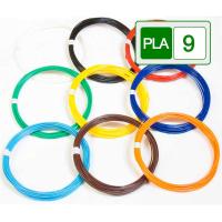 Пластик PLA-9(по 10м. 9 цветов в коробке)