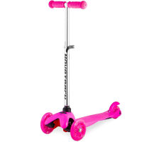 Самокат NOVATRACK Disco-kids 3-колесный,25 кг. с цветными колесами